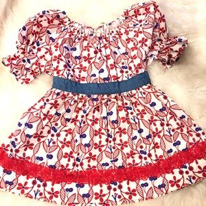MATILDA JANE RED WHITE AND BLUE TOP